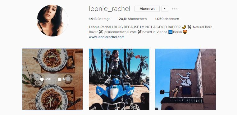 Top 3 Instagram Feeds leonie_rachel